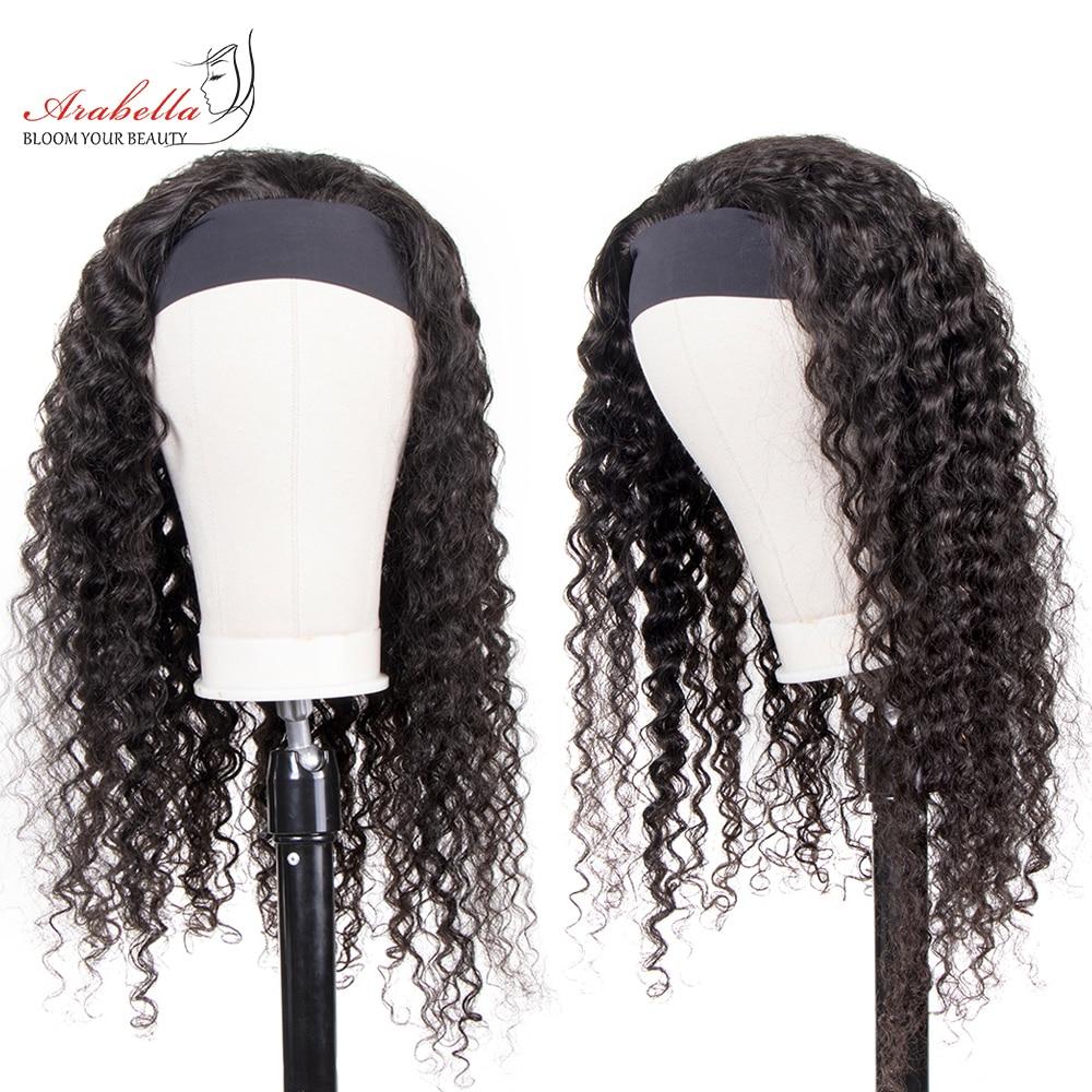 Deep Wave  Wigs With Headband  Hair Full Machine Made Wig  Arabella Hair Glueless Wig 1