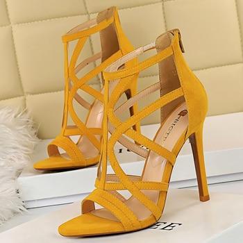 11cm  Roman Sandals Peep Toe Sandals High Heels 4