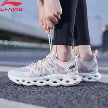 Li-ning ln arco coxim tênis de corrida respirável forro wearable li ning fitness sapatos esportivos tênis arhq052