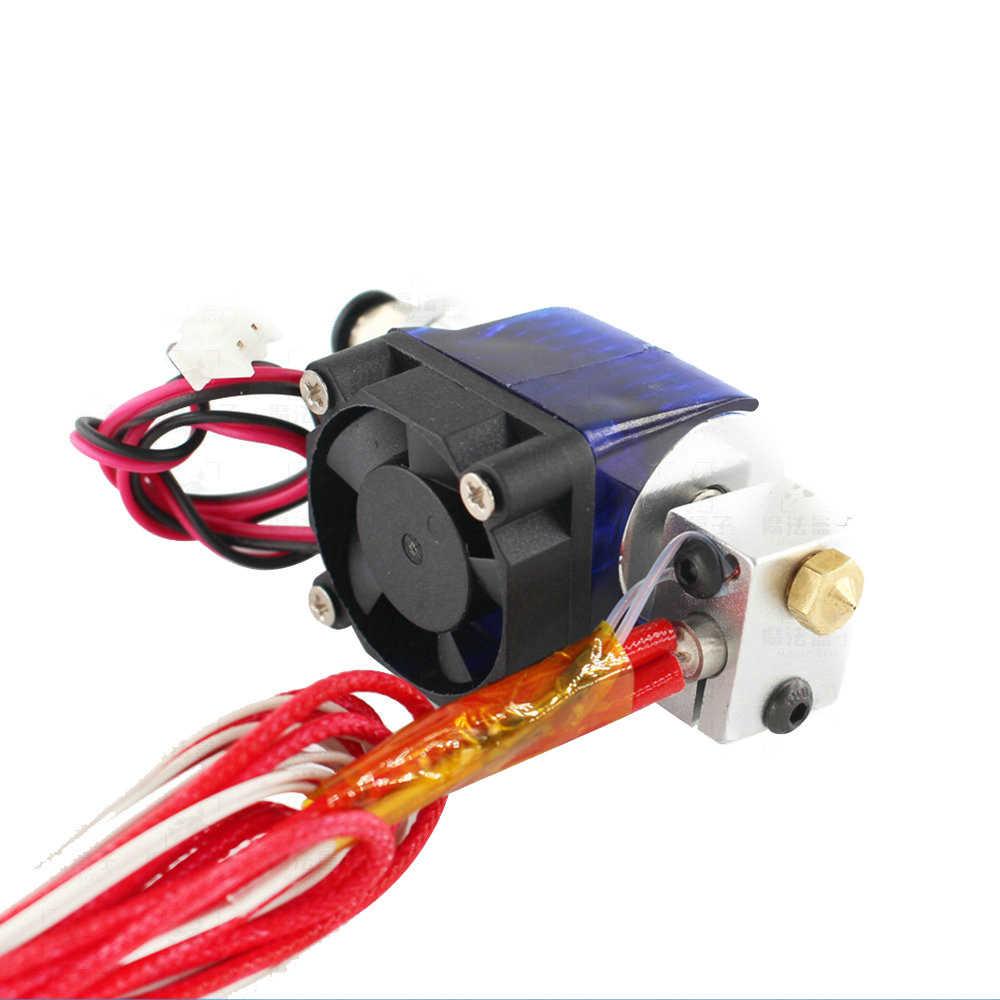 3D プリンタ部品 E3D V6 Hotend キット 0.4/1.75 ミリメートル j-ヘッドリモート押出機 12V 24V 冷却ファンテフロンチューブ