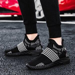 Image 4 - Мужские кроссовки, дышащие кроссовки для бега, разноцветные кроссовки, амортизирующие кроссовки для ходьбы, бега, спортивная обувь, спортивные кроссовки для тренировок