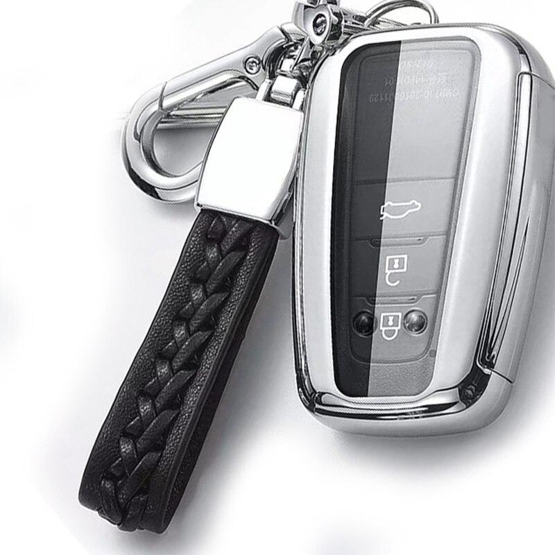 Новый ТПУ чехол для ключей автомобиля полное покрытие защита для Toyota Prius Camry Corolla C-HR CHR RAV4 Prado 2018 аксессуары брелок кольцо
