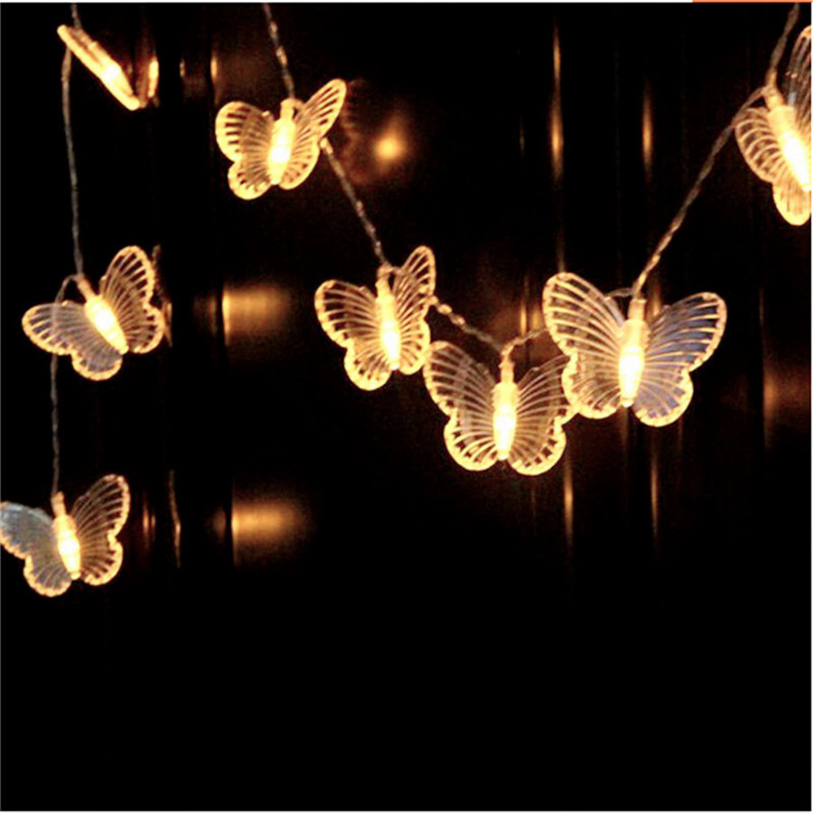 Butterfly String Lights 3M 30LED Battery Operated Fairy Lights For Bedroom Home Christmas Wedding Party Holiday Decoration Lamps