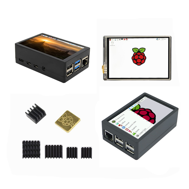 RPi4 New 3.5 Inch 125MHz SPI TFT LCD Display Touch Screen + ABS Case For Raspberry Pi 4 Model B 3B+