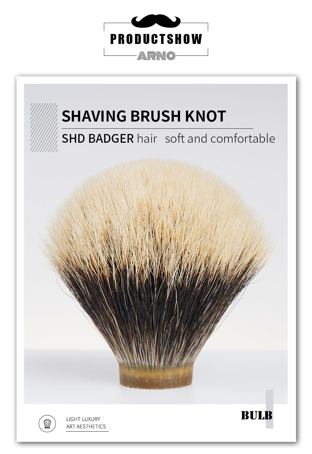 Arnobrush-shd dois banda-nobre texugo cabelo escova de barbear nós