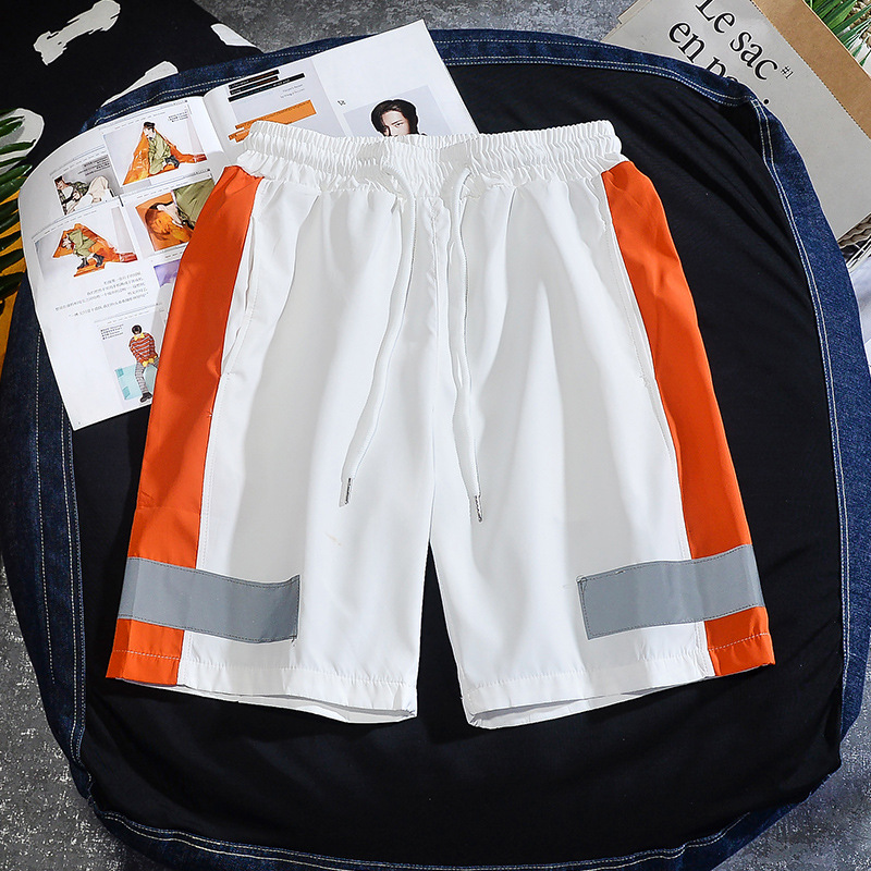 Summer Men Casual Shorts Fashion Men's Shorts Reflective Trend Brand Hip Hop Drawstring Short Male Plus Size Streetwear 4XL 5XL