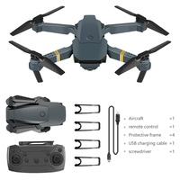 2021E58 Quadrocopter Faltbare Drone Tragbare Drone Kit 720P/1080P/4K HD Luftaufnahmen RC Drone mit Tracking Schießen Funktion