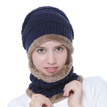 2 szt Zimowy ciepły dzianinowy kapelusz z zestaw szalików Skullies czapki dla kobiet mężczyzn podszycie polarowe kapelusz z zestaw szalików fabryka hurtownia tanie i dobre opinie CN (pochodzenie) WOMEN COTTON Dla dorosłych Moda 9 8inch 10 2inch Szalik Kapelusz i rękawiczki zestawy NT157-NT158 0 14kg