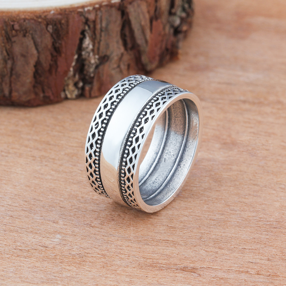 Stainless Steel Rings For Women And Men Jewelry Charms Boho Vintage  Both Lace Gothic Bague Femme Argent Wedding Ring Punk