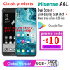 "Google Play Snapdragon 660 Android 9.0 Original Smartphone Hisense A6L 6.63"" AMOLED+5.84"" Ink Display Smart Phones IMX386  Phone"