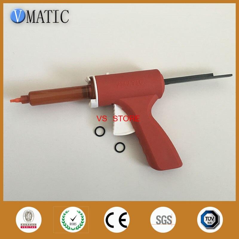 Купить с кэшбэком Free Shipping 10ml 10cc Manual Syringe Gun/ Epoxy Caulking Adhesive Glue Gun/Dispense Gun With Syringe Barrel & Needles