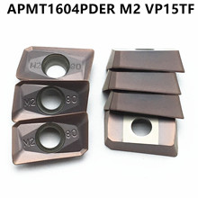 10PCS APMT1604 PDER M2 VP15TF turning tool carbide insert APMT 1604 milling cutter lathe CNC