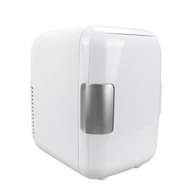 Refrigerator Cooler Freezer Car Mini Fridge Portable Electric Home 4L White-12V/220V