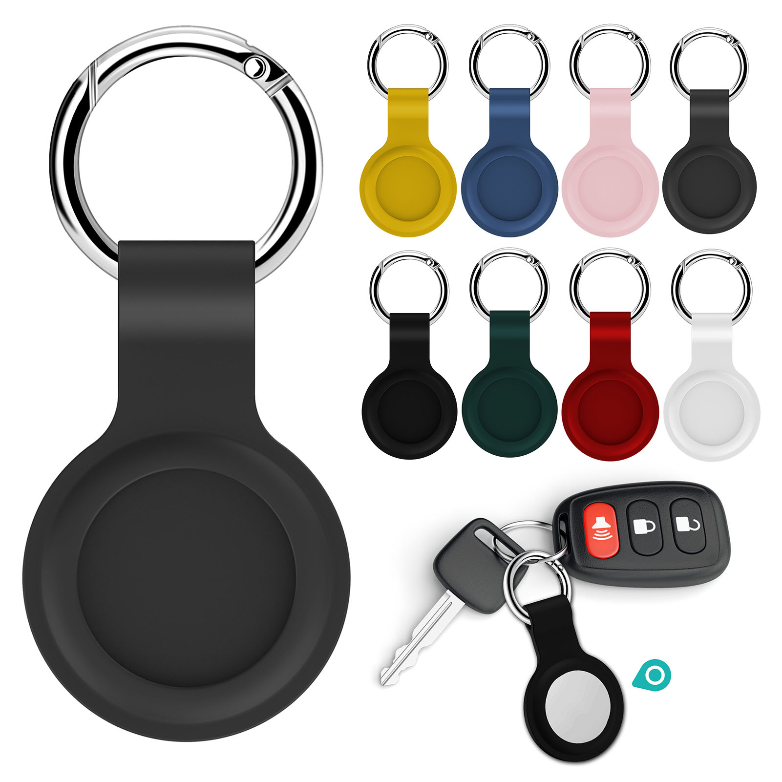 For Apple Airtag Case Waterproof Silicone Strap Protective Hangable Key Ring Luggage for Airtags Air Tags Keychain Accessories