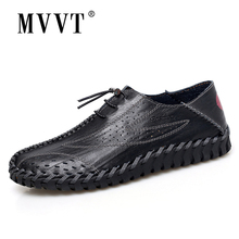 Soft Leather Shoes Men Loafers Breathable Mesh Summer
