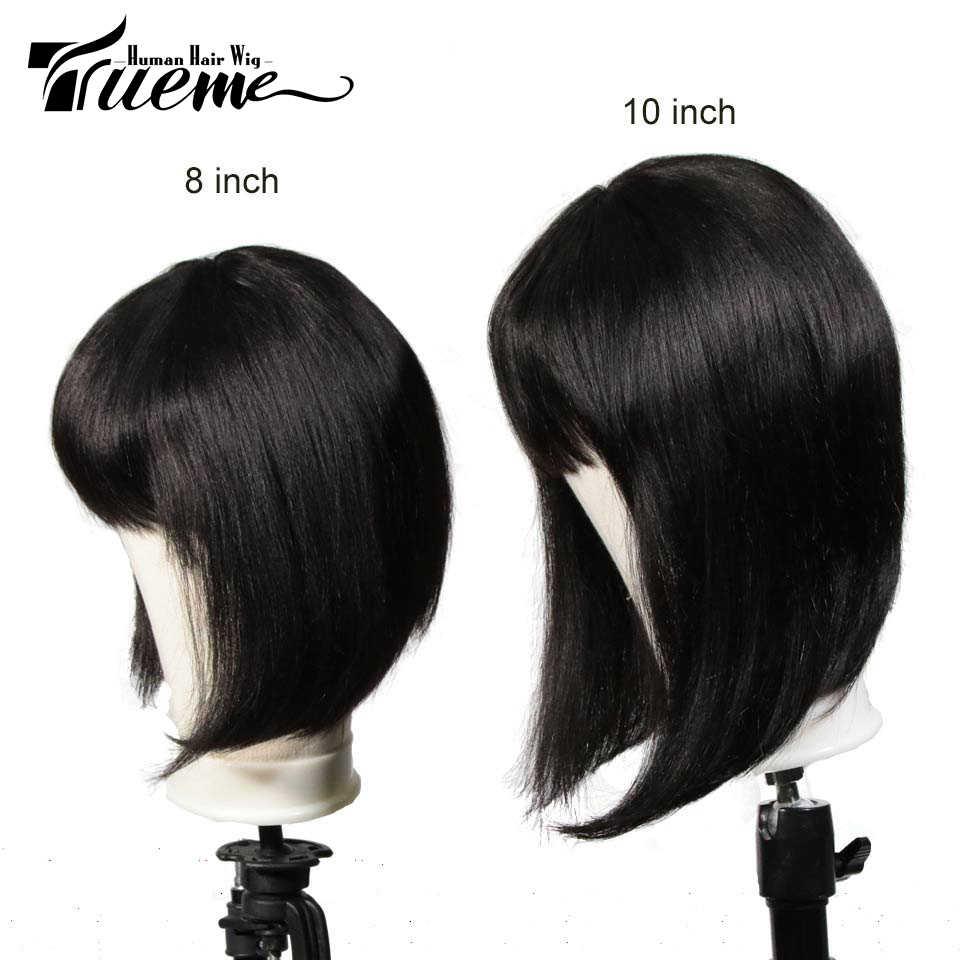 Trueme Pixie Cut Pruik Voor Zwarte Vrouwen 613 Ombre Rood Bruin Blonde Remy Braziliaanse Straight Korte Bob Menselijk Haar Pruiken met Pony