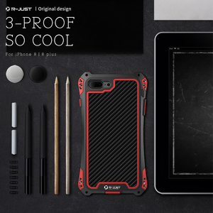 Image 5 - R JUST Metal Case for iPhone 7 8 Plus X XR XS MAX Cover Shockproof Hybrid Rugged Armor Case for iPhone 7 8 11 Pro Max Cover