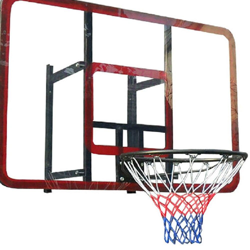 Стандартный нейлоновый Basketbal нетто провода Спортивная Basketbal Hoepel сетки щит Velg Bal туфли-лодочки 12 петель Wit руд Синий Баскетбольная Сетка