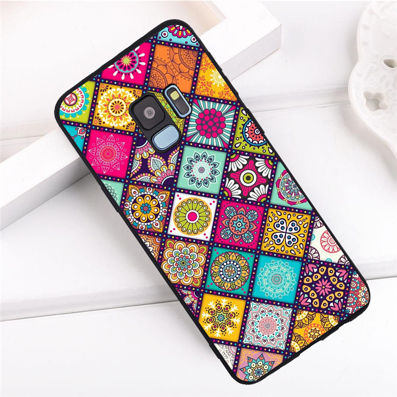 Flower For Samsung Galaxy S6 S7 Edge S8 S9 S10 Plus Lite Note 8 9 10 A30 A40 A50 A60 A70 M10 M20 pro phone Case Cover funda capa in Half wrapped Cases from Cellphones Telecommunications