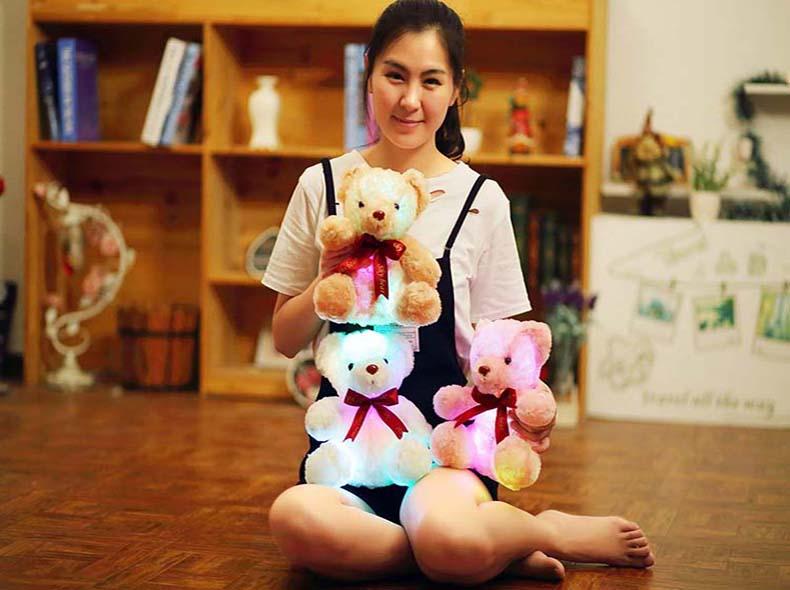 de pelúcia luminosa led luz brinquedos de