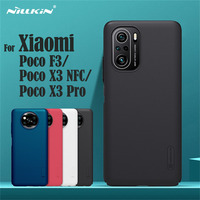 Para Xiaomi Poco F3 Poco X3 Pro X3 NFC Funda Nillkin Frosted Shield Carcasa rígida de protección para teléfono para PC Contraportada para Poco X3 Pro