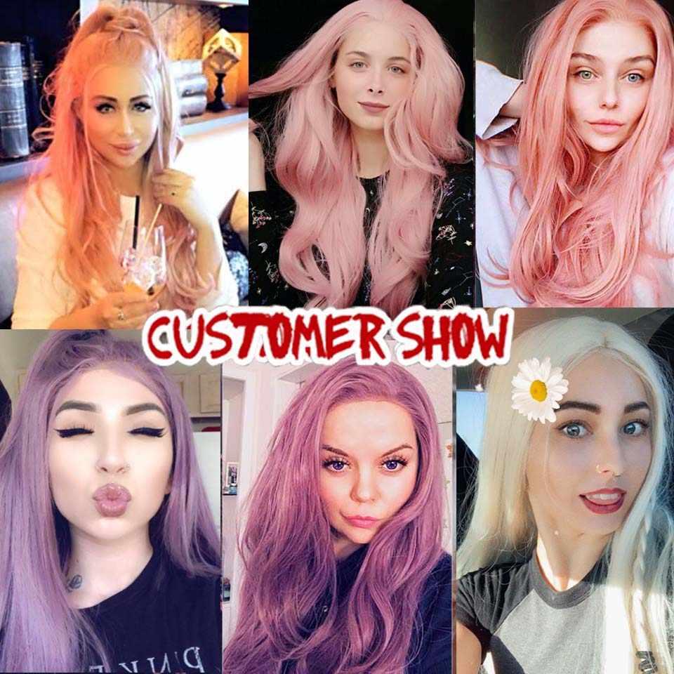 Xtrend peruca dianteira do laço sintético longo rosa cobre vermelho roxo laranja ombre cinza loira branco perucas para preto feminino onda cabelo feminino