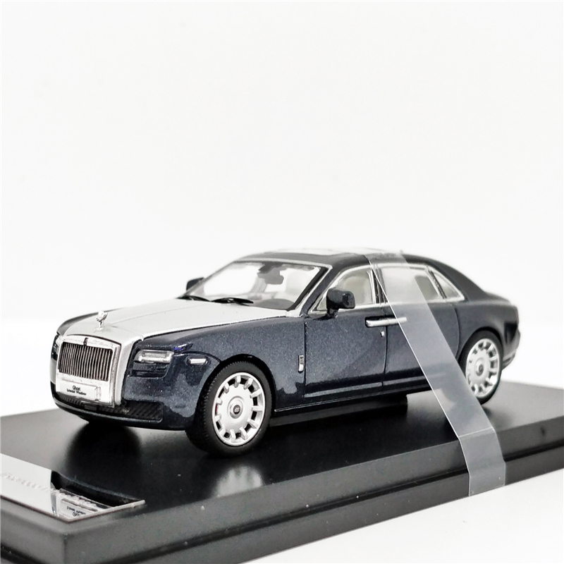 1:64 Rolls Royce Ghost Extended Wheelbase DarkBlue/Silver Diecast Model Car