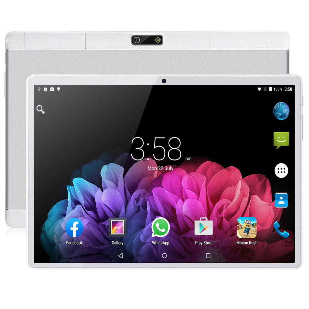New Arrival 10.1 Inch Tablet Pc Android 7.0 Google Play 1280*800 IPS 2.5D Tempered Glass Screen 3G Call Tablets WiFi SIM Card 10