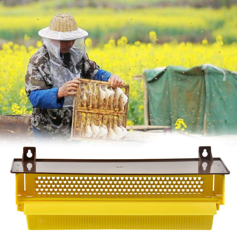 Plastic Bee Pollen Trap Collector For Apiculture Beekeeping Tools Beehive Bee Hive Entrance Equipments Yellow Home Garden Tool