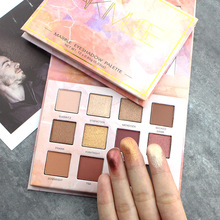 Marble Flame Mousse 12 Color Eyeshadow Disc Pearlescent Matte Eye Shadow