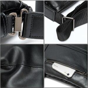 Image 5 - Westal mens shoulder bag for men male solid messenger crossbody bag casual mens bags flaps zipper handbag designer shouler bag