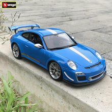 Bburago 1:18  Porsche 911 GT3 RS car alloy model simulation decoration collection gift toy Die casting boy