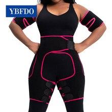 Ybfdo mulheres cintura alta coxa trimmer emagrecimento perna corpo neoprene suor shapewear shapers cintura ajustável trainer cinto de emagrecimento