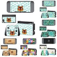 Vinyl Niedlichen Haut Animal Crossing Protector Aufkleber für Nintendo Schalter NS Konsole + Freude con Controller Skins Aufkleber abdeckung