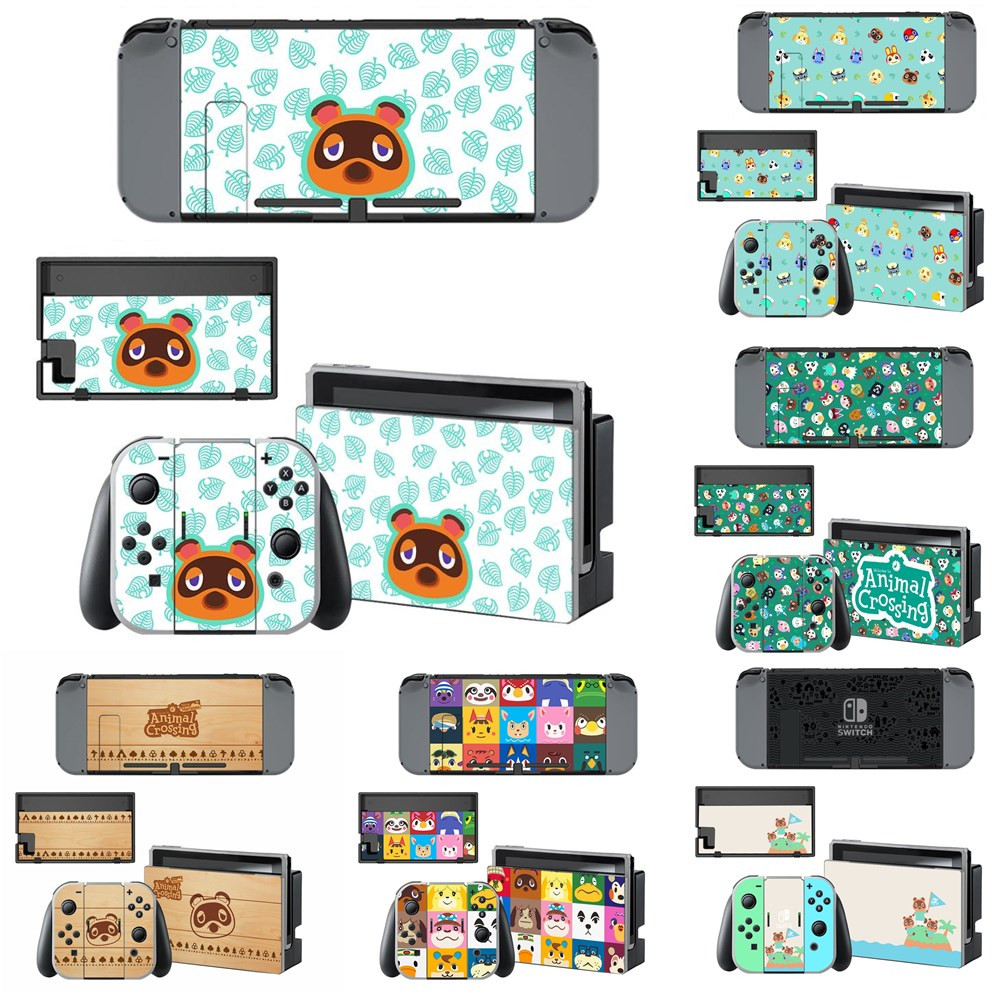 Vinyl Screen Cute Skin Animal Crossing Protector Stickers For Nintendo Switch NS Console + Joy-con Controller Skins Decal Cover