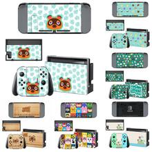 Vinyl Screen Cute Skin Animal Crossing Protector Stickers for Nintendo Switch NS Console + Joy con Controller Skins Decal Cover