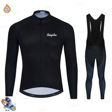 Raphaful 2020 hiver cyclisme vêtements hommes à manches longues polaire cyclisme maillot respirant Ropa Ciclismo Invierno Hombre Termica