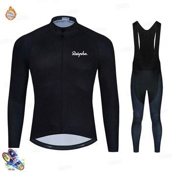 Raphaful-Ropa de Ciclismo para Hombre, Jersey masculino de manga larga y polar,...