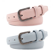 Classic Women Leather Belt Fashion Belts New Waistband Luxury Strap Metal Pin Buckle w/2.3cm