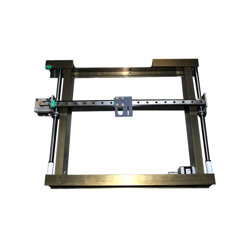 Double Axis Quadrangle Plotter 3020 6040 Square Guide Rail  DIY CO2 Laser Stamp Engraving Machine Table Bed Flex Cable