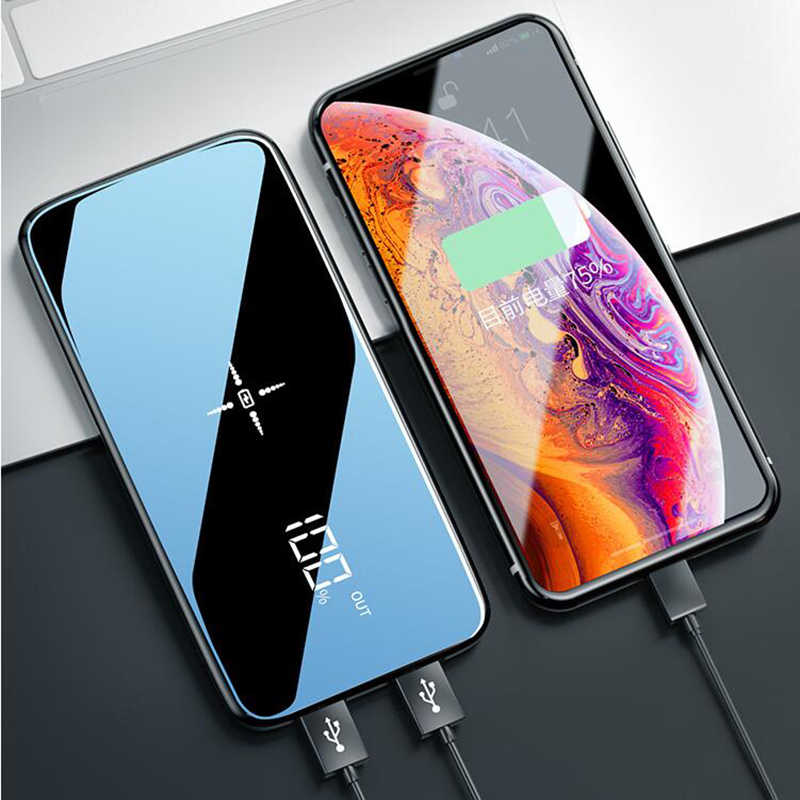 2020 Baru Portable Nirkabel 30000 MAh Power Bank Charger Nirkabel untuk iPhone Eksternal Bank Baterai Built-In Charger Powerbank