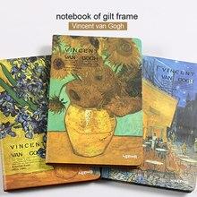 Marco dorado A5 Van Gogh, cuaderno Vintage, regalo, Bloc de notas, libro de notas, cuaderno de colegio, papelería, Notatnik