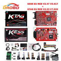 KESS V2 2.47 V5.017 สีแดง PCB No Token จำกัด ECM ไทเทเนียมเครื่องมือการเขียนโปรแกรม ECU รถ/รถแทรกเตอร์/จักรยาน ktag V2.23 Master รุ่น