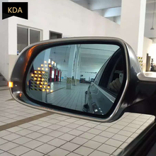 Blue Wing Mirror Glass Heated Angle Wide Glare Proof LED Turn Signal Lamp for AUDI A4 B8 2009 2012 A6 C6 2009 2011 Q3 2013 2018