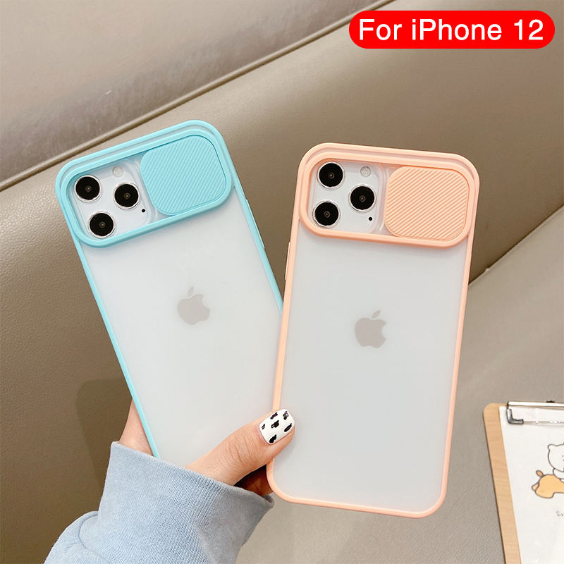 Camera Lens Protection Phone Case on For iPhone 12 Pro Max Silicone edge PC backplane For iPhone 12 mini Color Candy Back Cover Phone Case & Covers  - AliExpress