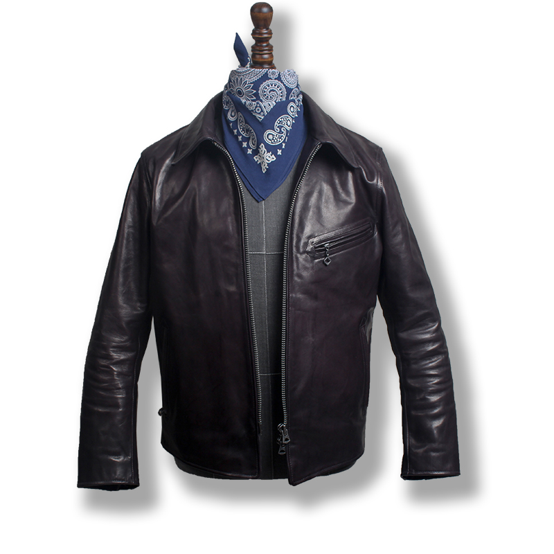 P2 Read Description! Asian Small Size Super Quality Genuine Horse Leather Jacket Slim Classic Horsehide Leather Rider Jacket