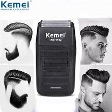 Kemei เครื่องโกนหนวดไฟฟ้า beard Trimmer ผม clipper กันน้ำเครื่องโกนหนวด USB rechargeable Facial Trimmer 5