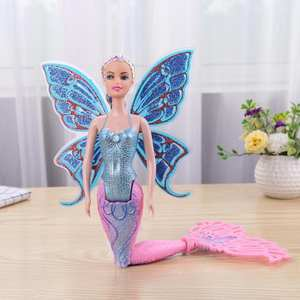 Delicate Swimming Mermaid Doll Girls Magic Classic Mermaid Toy with Butterfly Wing Toys For Princess Girls Montessori Gift