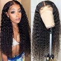 Sterly 13x 4/4x4 бразильские пучки волос глубокая волна Синтетические волосы на кружеве парики из натуральных волос на кружевной прозрачный Синте...