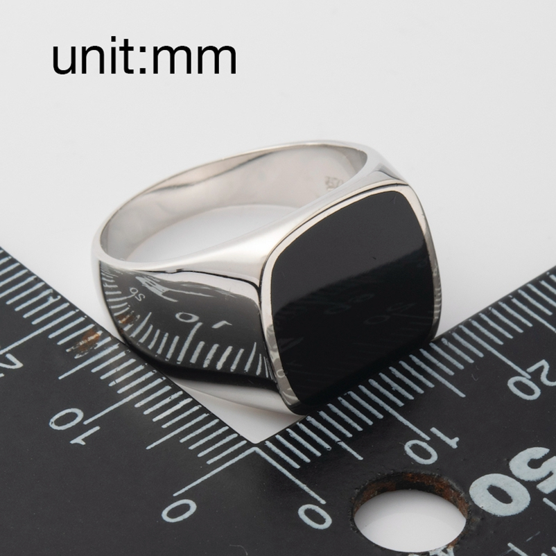 Image 4 - Eulonvan luxury Charms Engagement wedding 925 sterling silver Jewelry rings For Men Black Resin dropshipping S 3816 size 6   13Rings   -